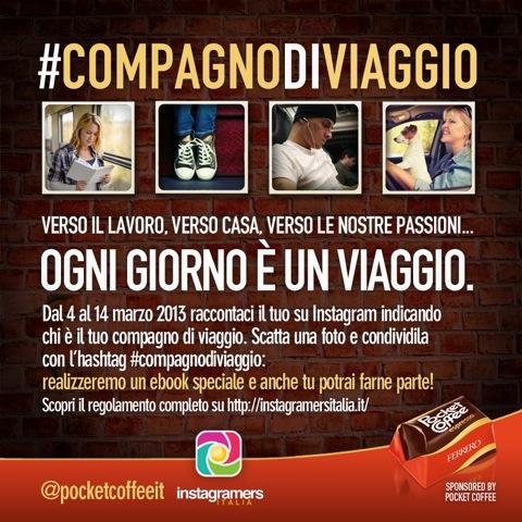 #Compagnodiviaggio con Pocket Coffee