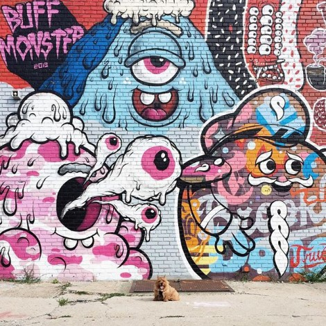 Le creature pink di @buffmonster