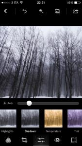 Accentuazione delle ombre con Photoshop Express