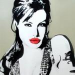 Ritratto di Angelina Jolie, Bambi. Foto di @waltonfineartswalton