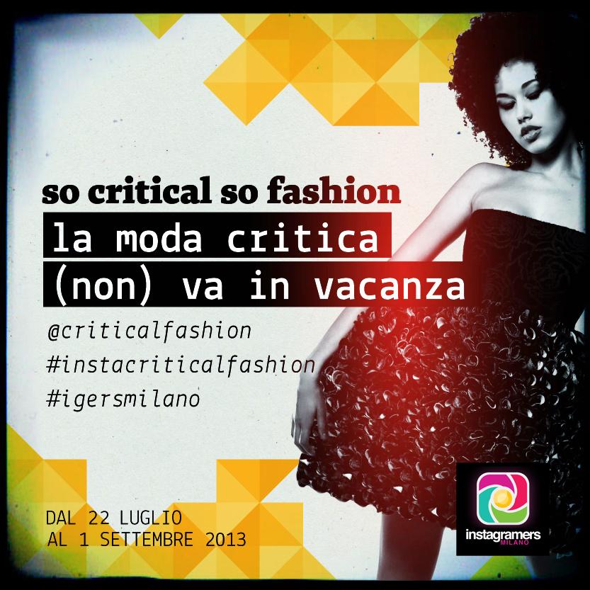 So critical so fashion: challenge con igersmilano.