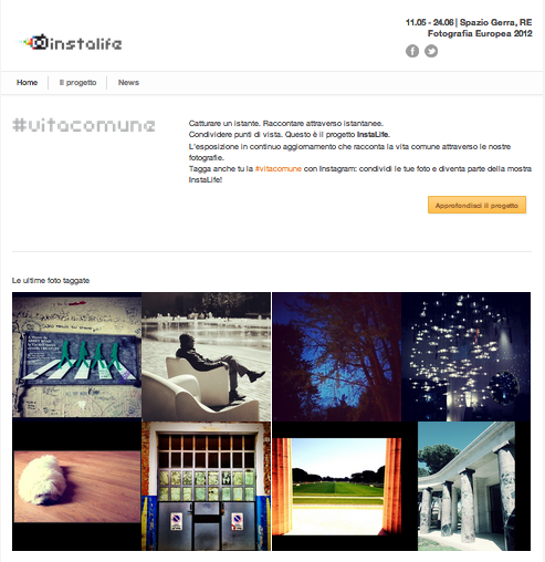 Industree Group presenta InstaLife. Instagram a Fotografia Europea 2012