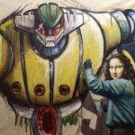 La Gioconda dipinge Mazinga