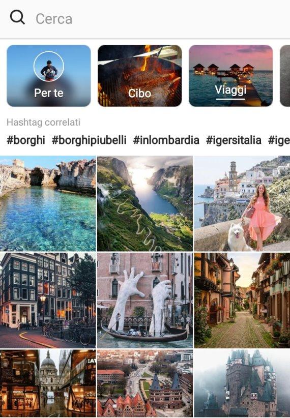 Come si presenta la nuova sezione Esplora su Instagram