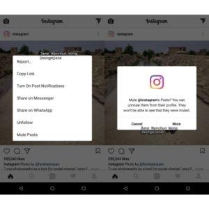 "In fase di test su Instagram la funzione Silenzia Utente, o ""Mute Posts"""