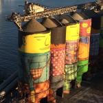 Un altro dettaglio dei silos a Granville Island, ph. @tomryanyvr