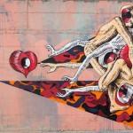 Un dettaglio di un murales, ph. @alo_zussi
