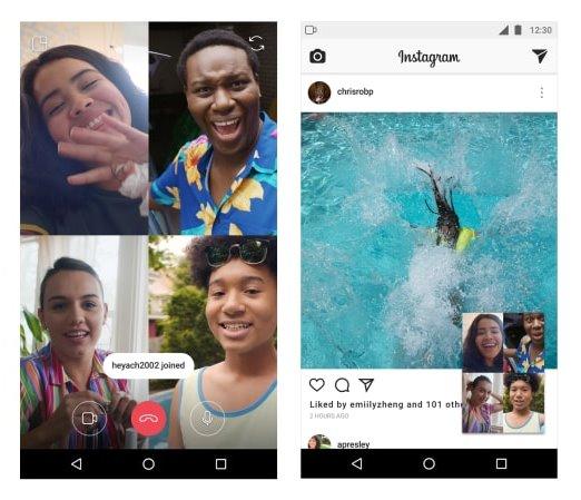 Video Chat per gruppo di 4 persone su Direct Instagram