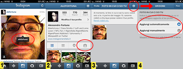 Aggiornamento Instagram 3.5 tag come Facebook