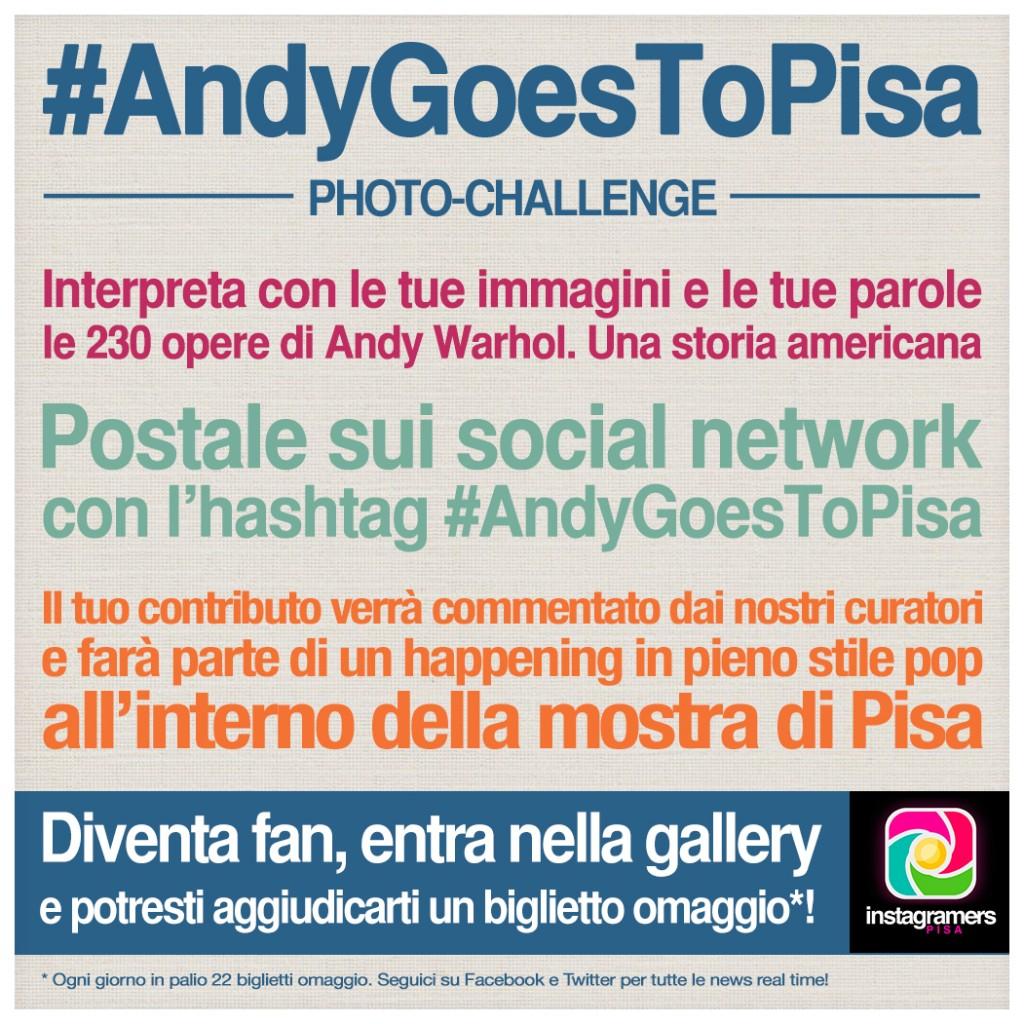 Instagramers Pisa per il challenge Andygoestopisa