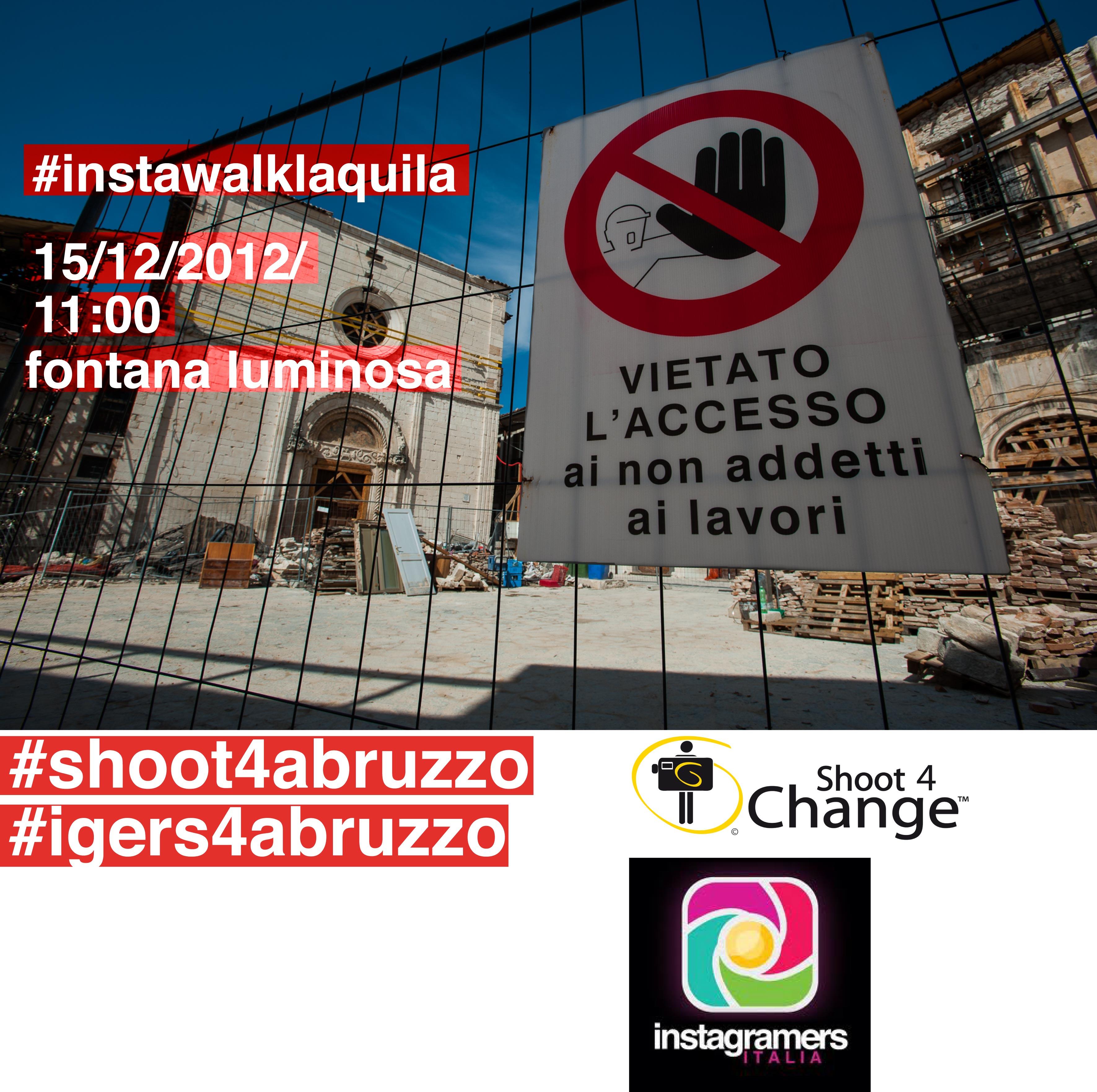 Instawalk fotografico a L'Aquila per raccontare il post terremoto
