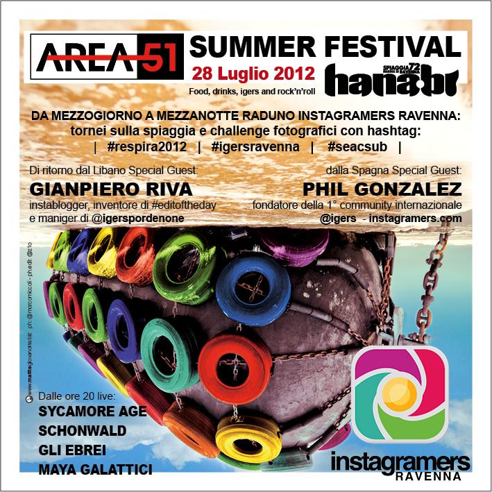 Instameet insieme @IgersRavenna e Area51 Summer Festival