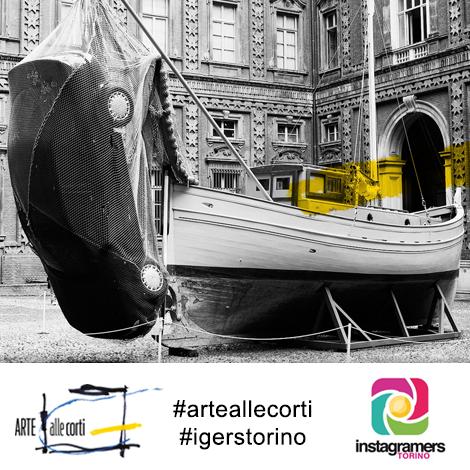 I contrasti dell'arte nelle Corti di Torino secondo Instagram
