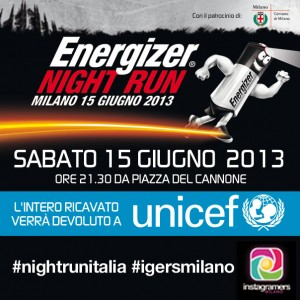 Instagramers e Energizer Night Run