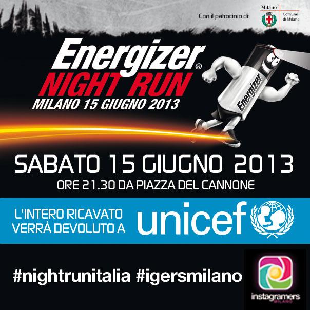 Instagramers Milano alla Energizer Night Run