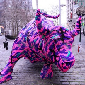 Il Toro di Wall Street della Olek by @billritson