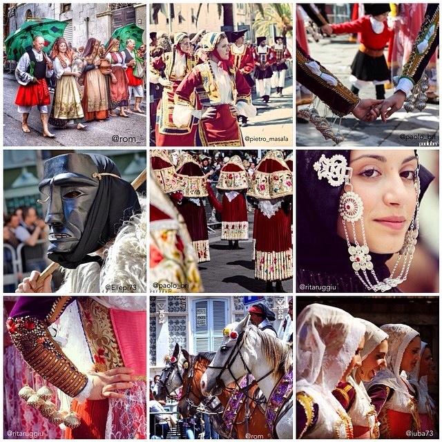 La Cavalcata Sarda sfila su Instagram