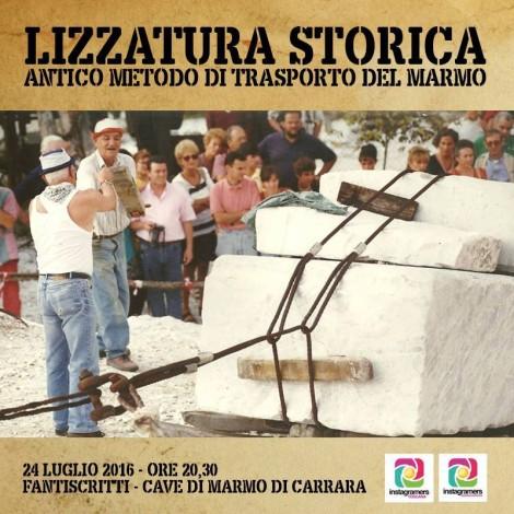 Rievocazione dell'Antica Lizzatura alle Cave di Marmo con Instagramers Massa-Carrara