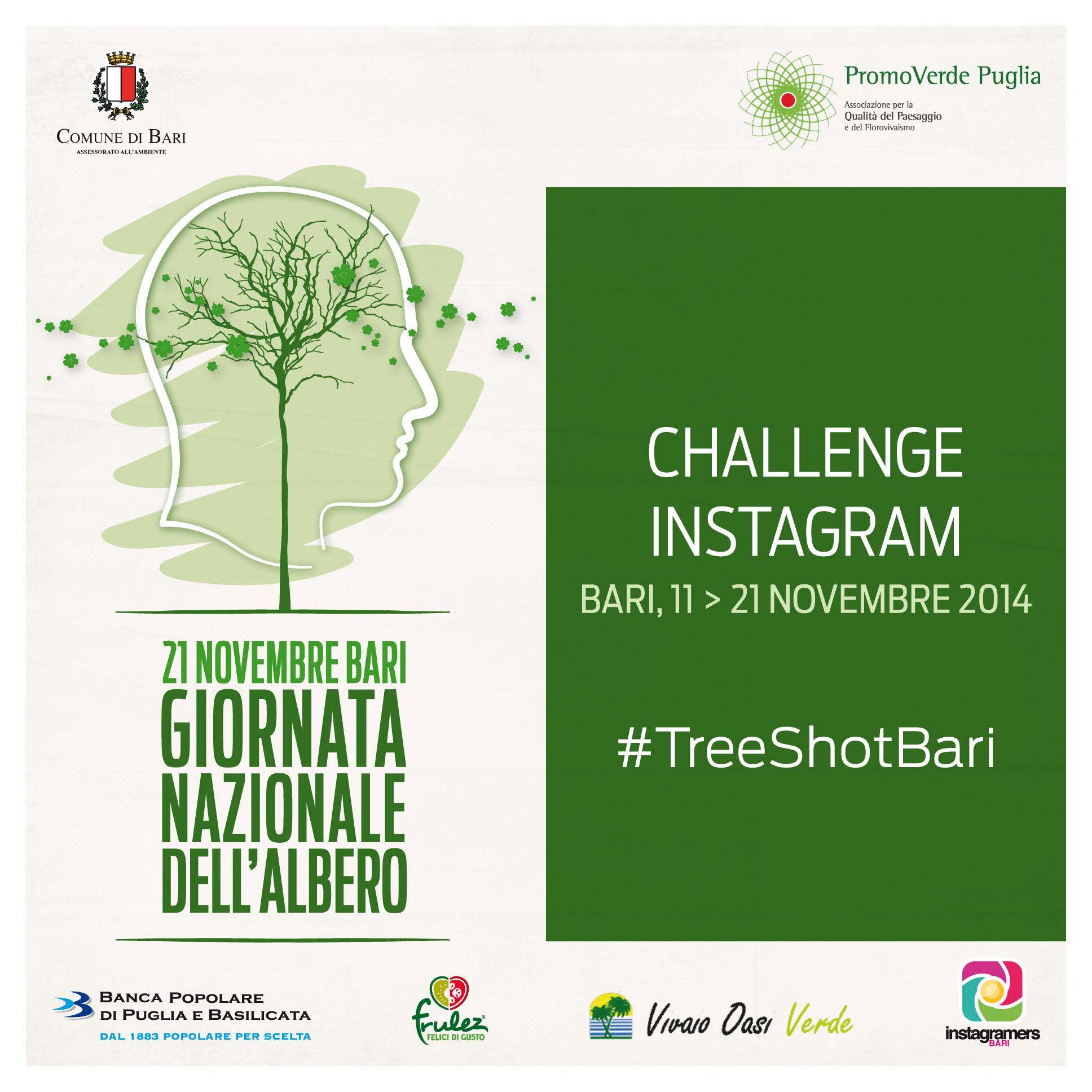 Locandina challenge #TreeShotBari