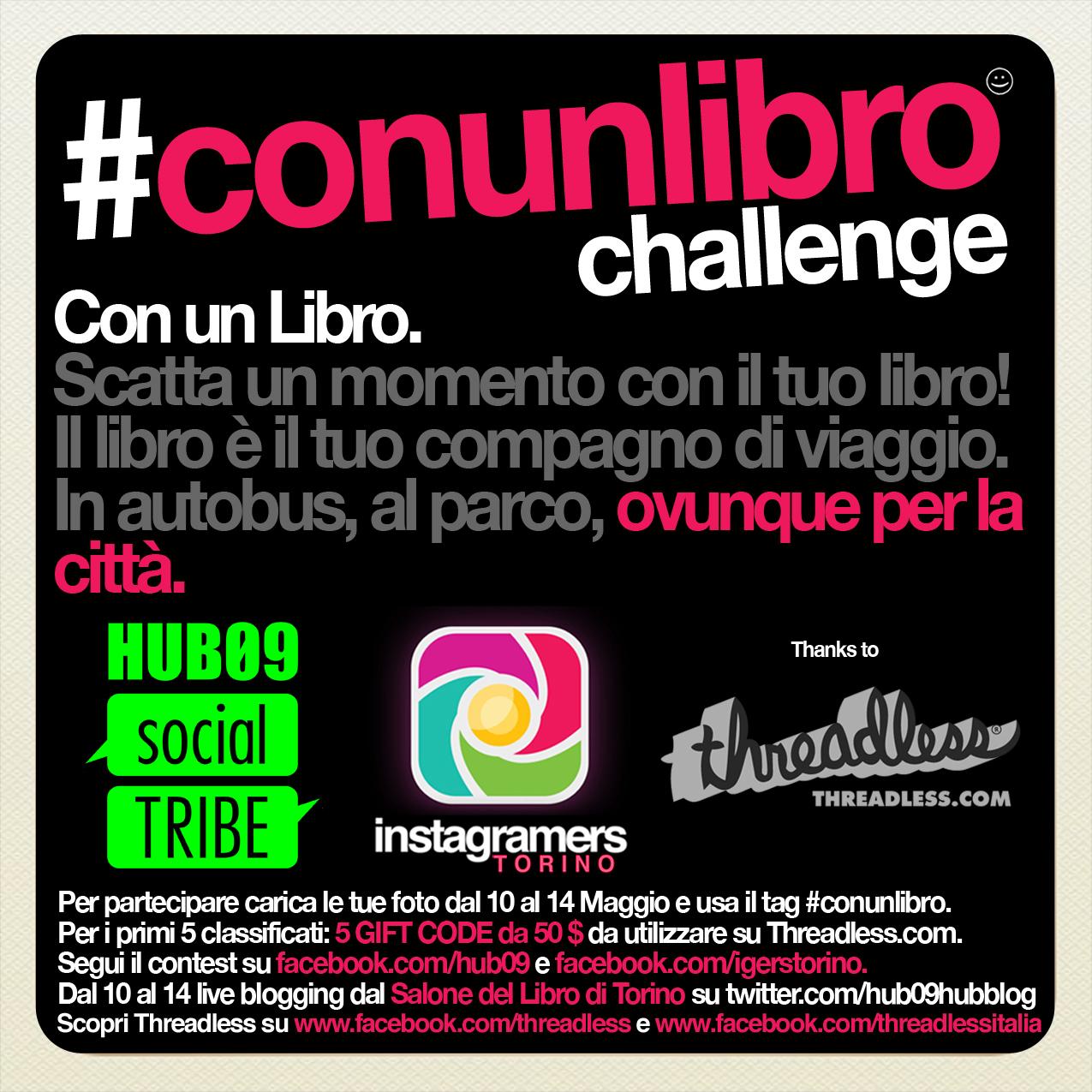 Instagramers Torino + HUB09 + Threadless per il Salone del Libro