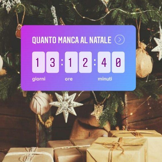 Countdown Natale.Countdown Il Nuovo Sticker Su Instagram Stories Igersitalia