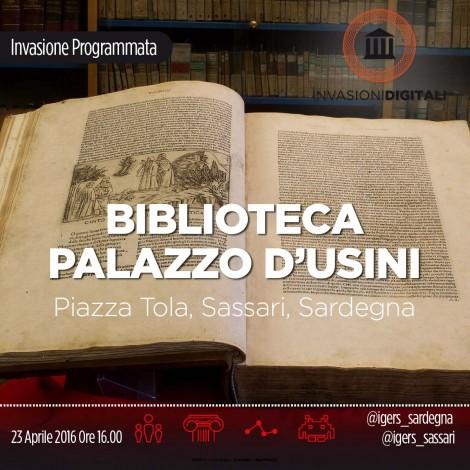 Invasione Digitale ai tesori della Biblioteca comunale di Sassari