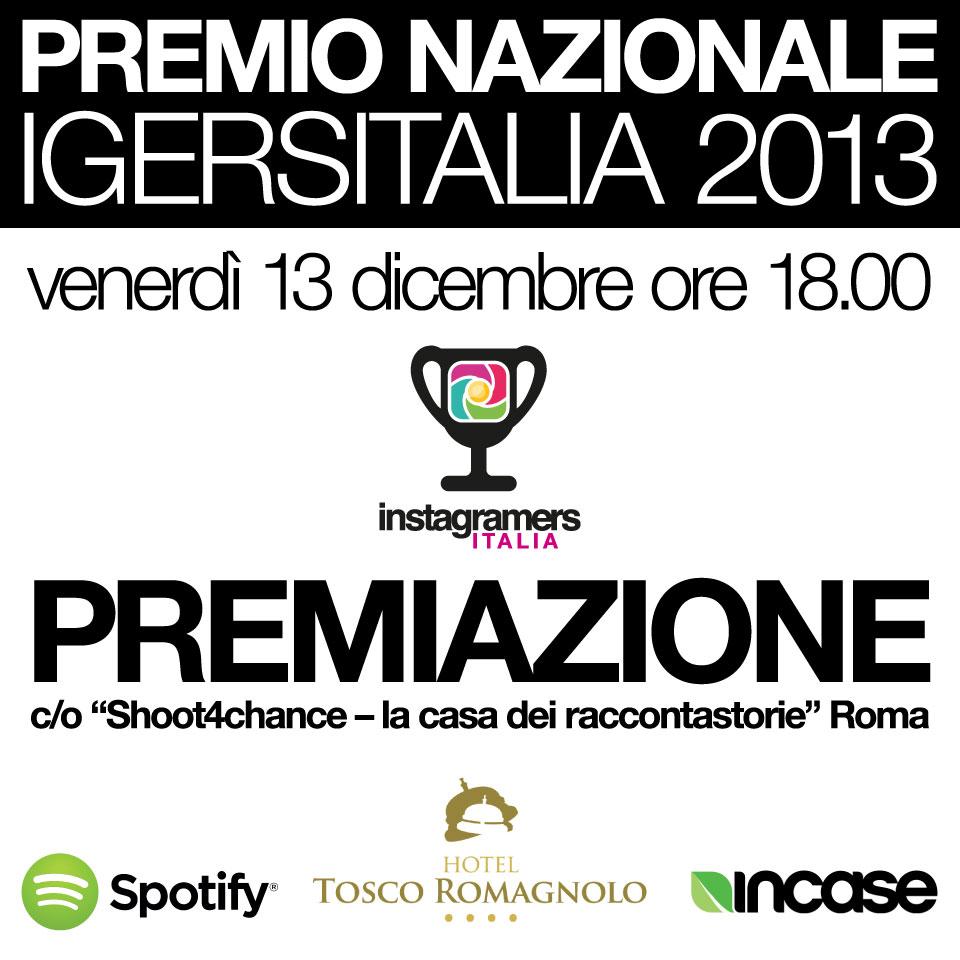 Premi e premiazione del Premio Igersitalia 2013