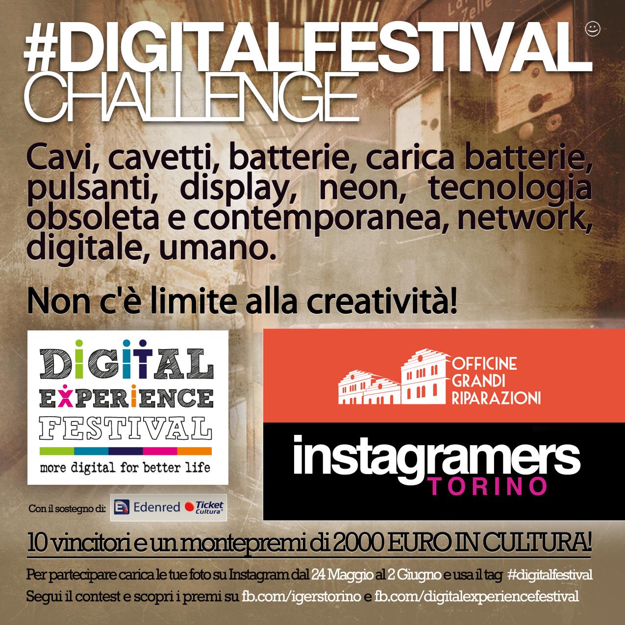 partecipa al Challenge Instagram di IgersTorino per il Digital Festival
