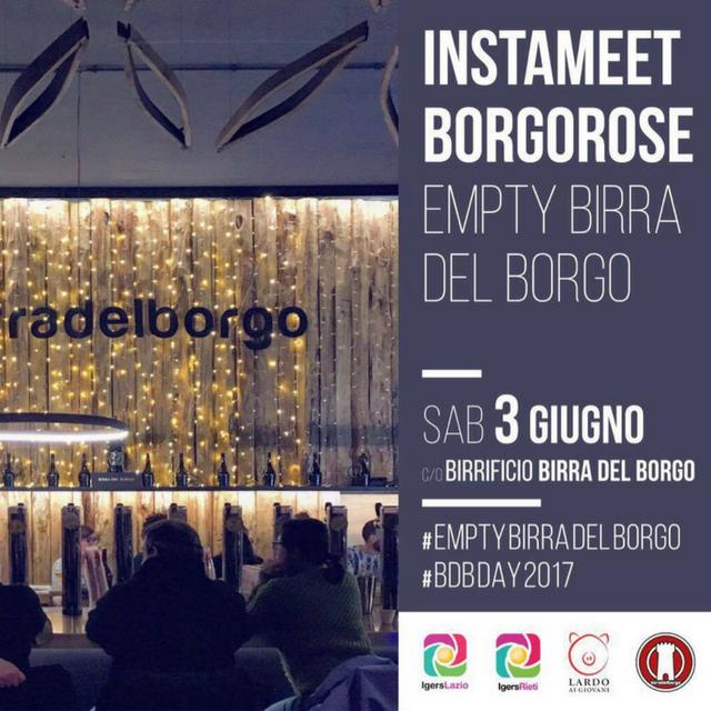 Instameet Borgorose – Empty Birra del Borgo