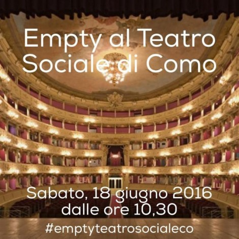 Empty al Teatro Sociale di Como