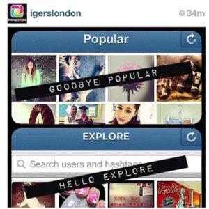 explore nuova funzione di instagram