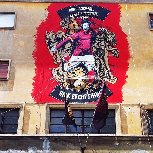 Il murales sull'ex deposito Atac, ph. @flaviano1972