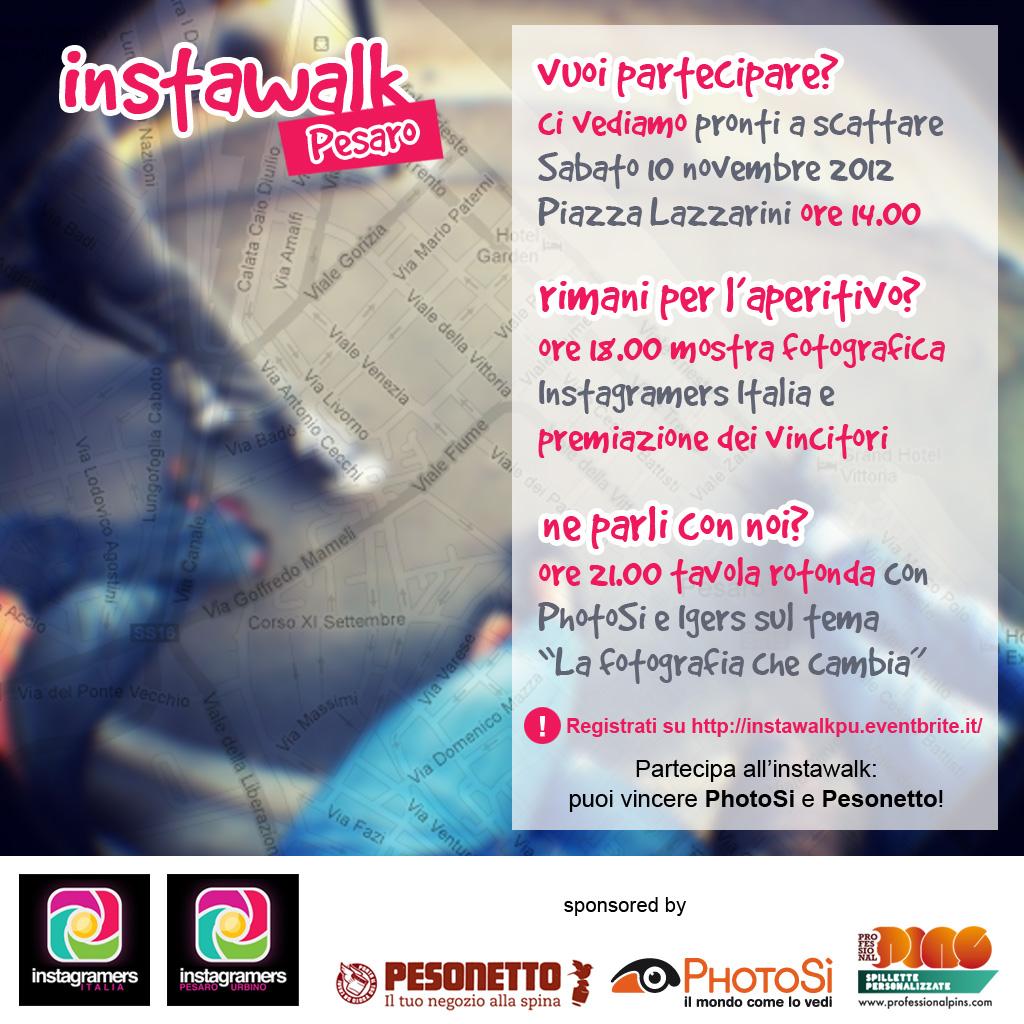 Instawalk igersPU + Mostra Fotografica igers Italiani + Tavola Rotonda PhotoSì