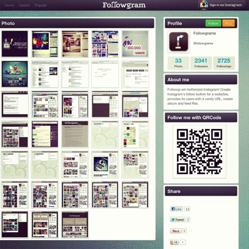 followgram webstagram statigram: web viewer per Instagram