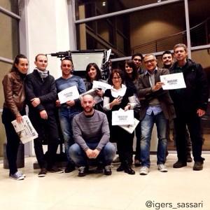 Invasione compiuta al centro stampa de La Nuova Sardegna.
