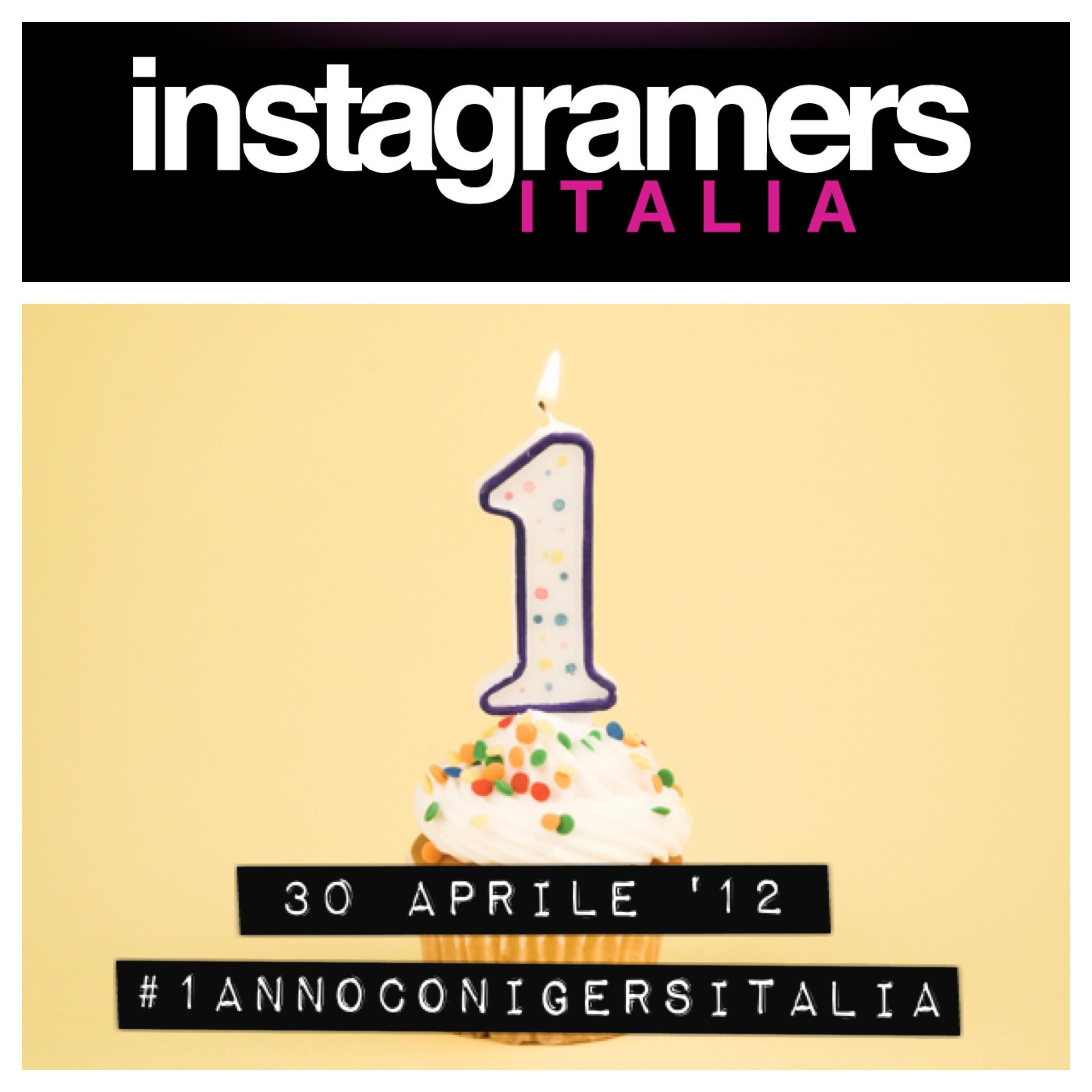 @igersitalia compie 1 anno! #1annoconigersitalia