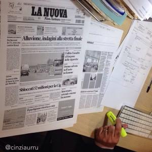 Al desk de La Nuova Sardegna