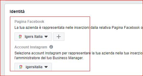 Foto del profilo Instagram: ads anche da Facebook