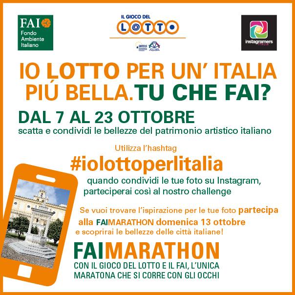 #iolottoperlitalia: Gioco del Lotto, FAI e Igersitalia insieme per il patrimonio artistico italiano