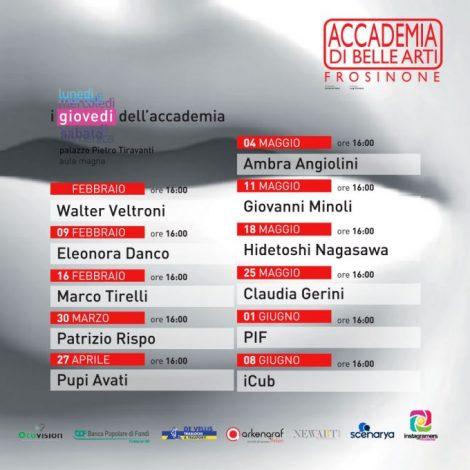 """Igers_Frosinone media partner de """"I giovedì dell'Accademia"""""""