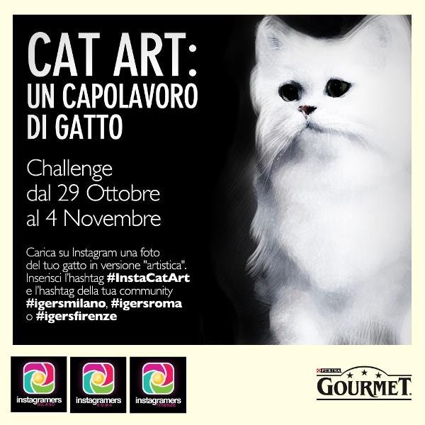 """Challenge """"CAT ART"""" con Igers Milano,Roma e Firenze"""
