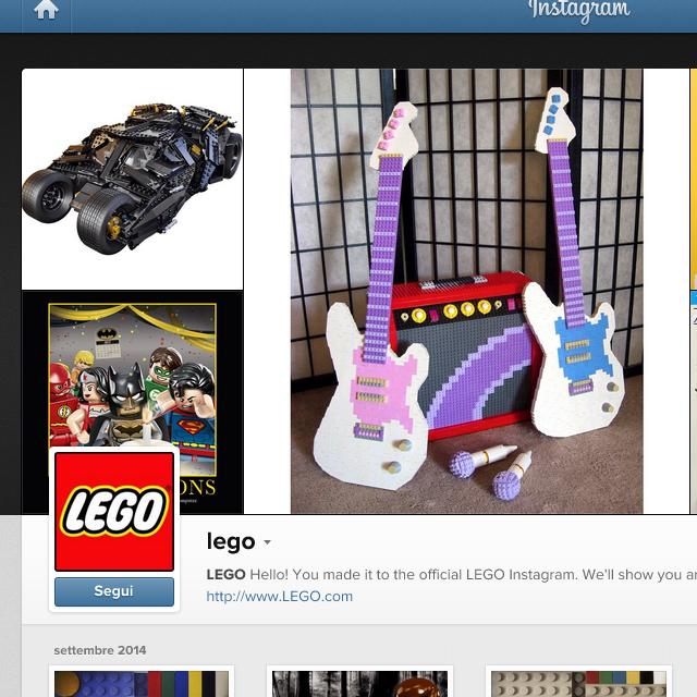 I giochi su Instagram: i Lego