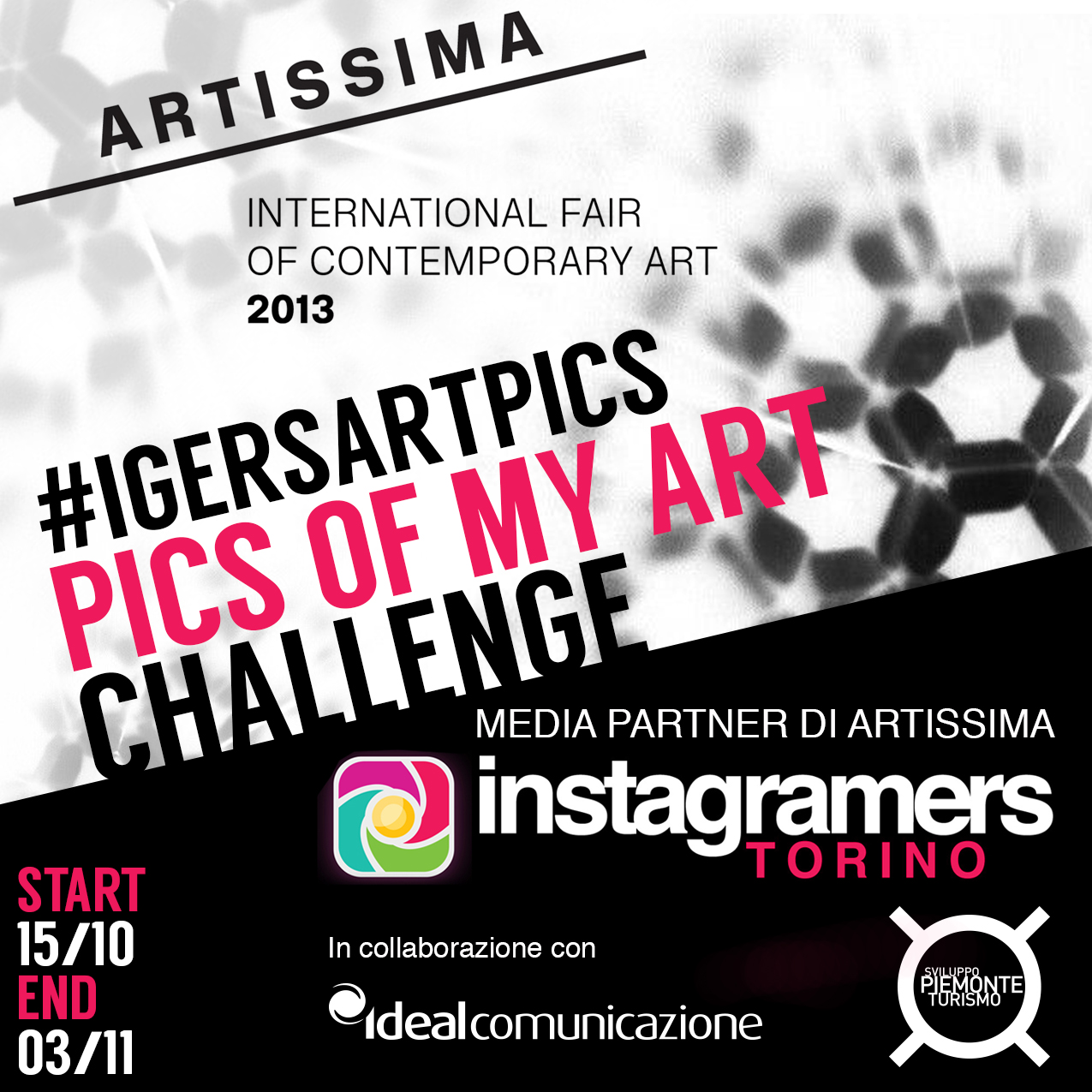 Pics of my Art, il nuovo Challenge Instagramers Torino, media partner di Artissima 2013