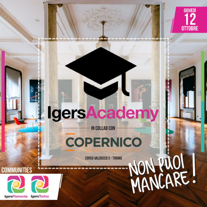 Igers Academy a Torino