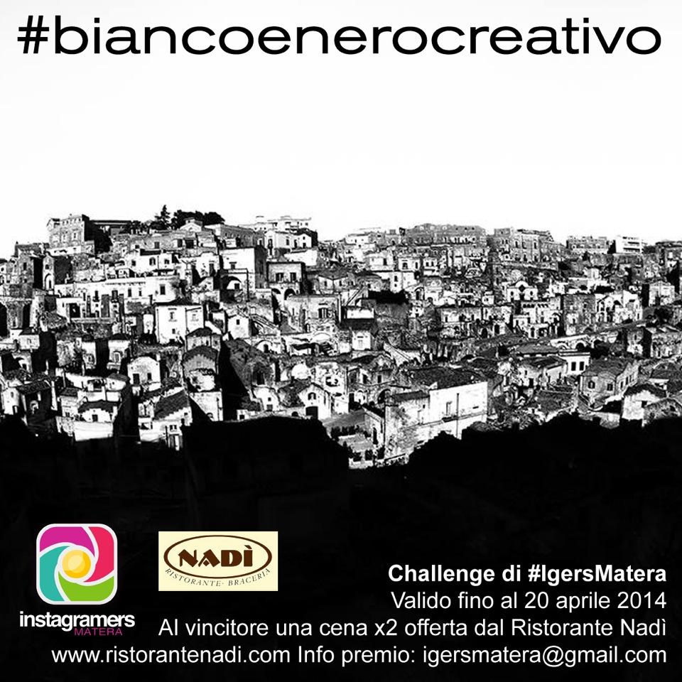 Bianco e nero creativo: il challenge di IgersMatera