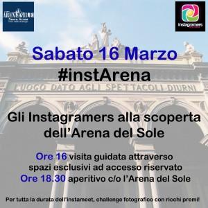 instArena a Teatro con Instagramers Bologna