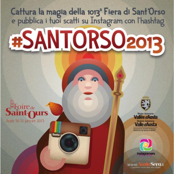 Cattura la magia della 1013a Fiera di Sant'Orso su Instagram!