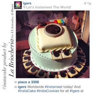 Torta dedicata ad Instagram dalla Briocheria di Rimini