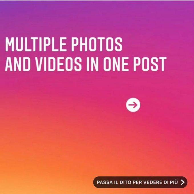 Gli album su Instagram – Come caricare fino a 10 foto o video