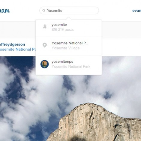 Instagram web: da oggi possiamo cercare tag, luoghi e persone